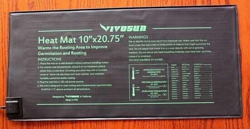 vivosun seedling heat mat temperature