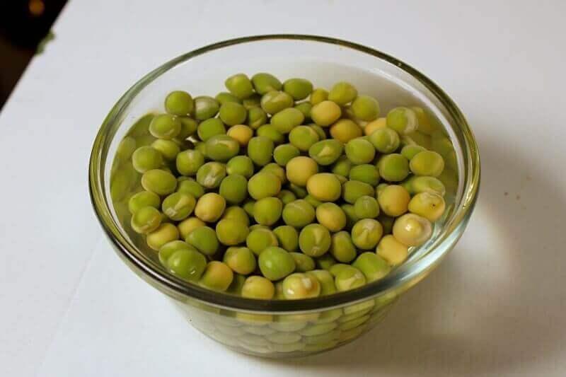 soaking pea seed