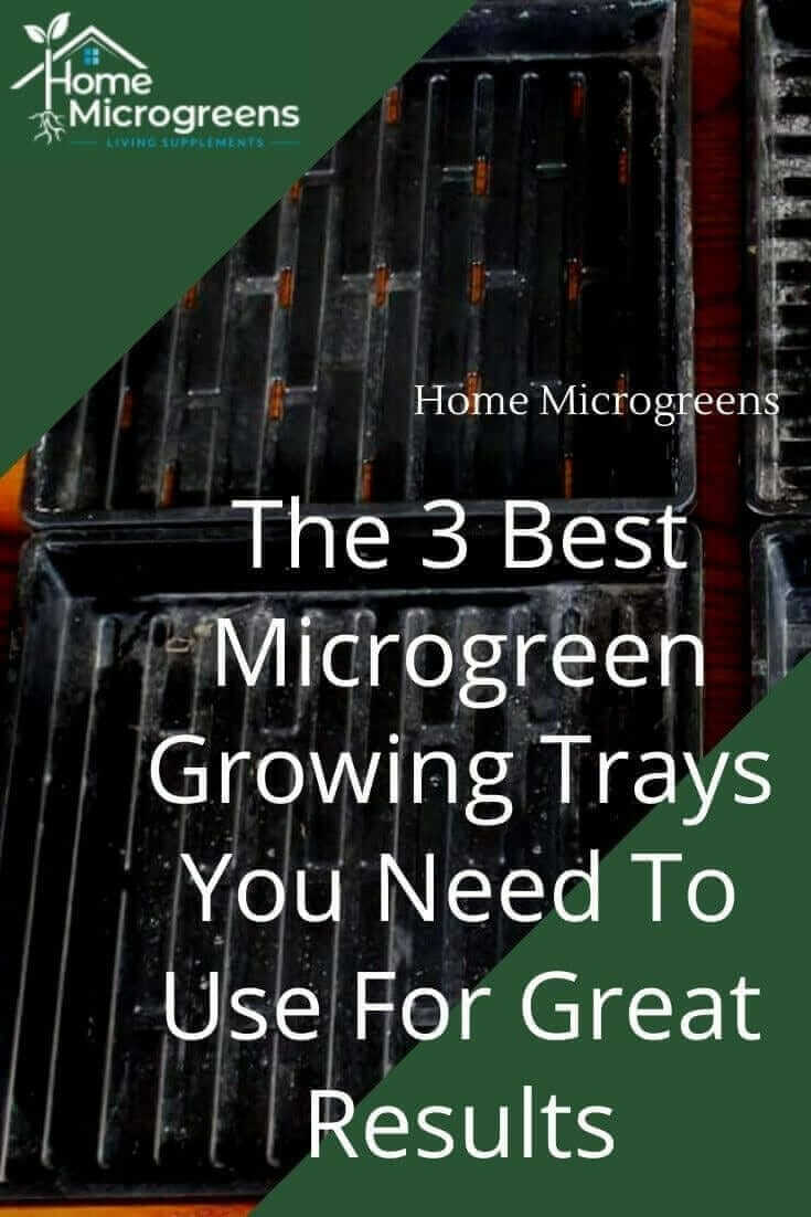 pin for microgreen growing trays
